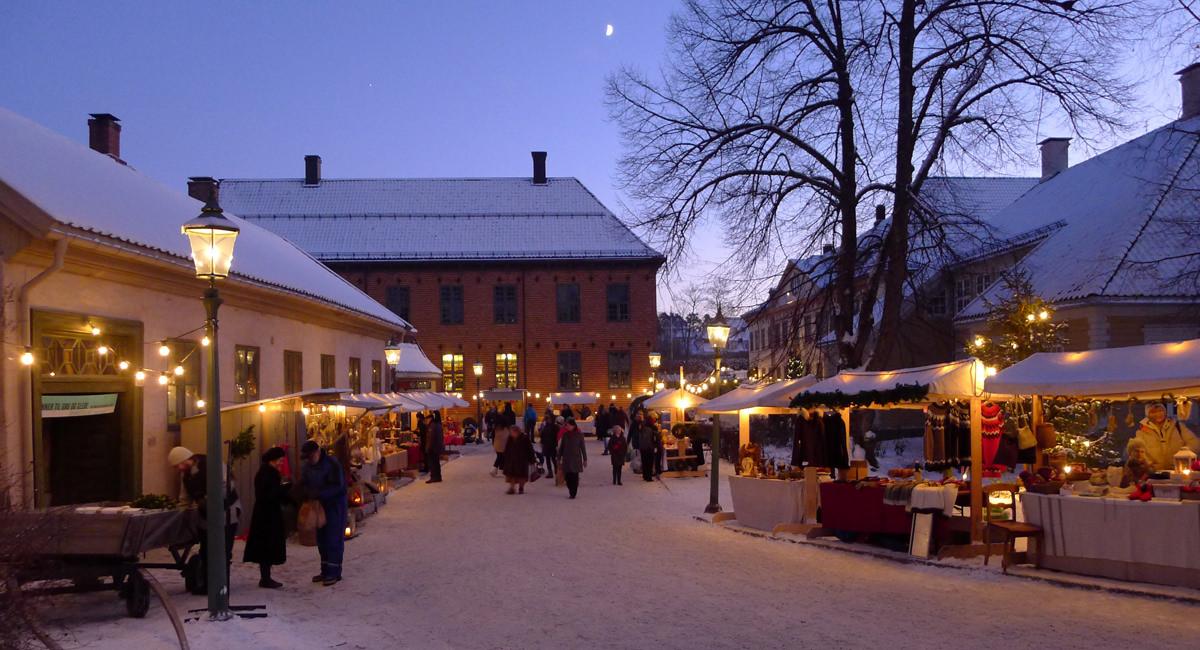 Weihnachtsmarkt Oslo Freilichtmuseum