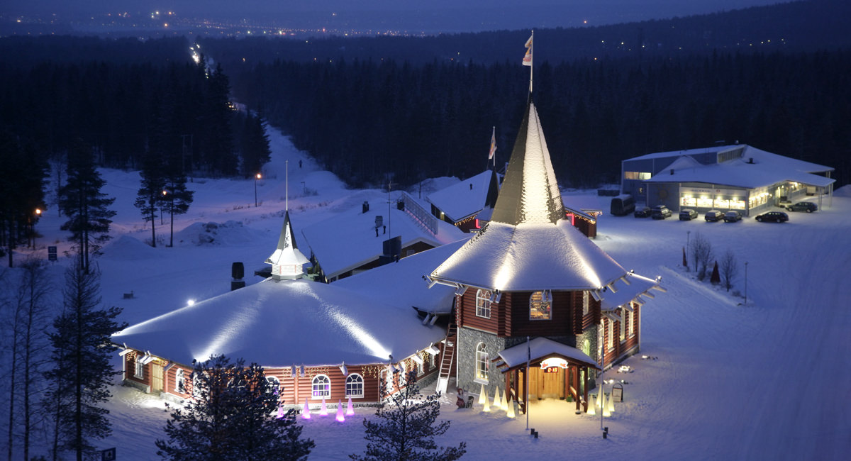 weihnachtsmanndorf santa claus village in rovaniemi. Black Bedroom Furniture Sets. Home Design Ideas